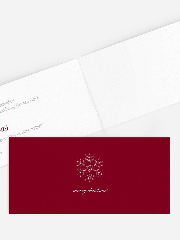 Geschäftliche Weihnachtskarte Kristallstern