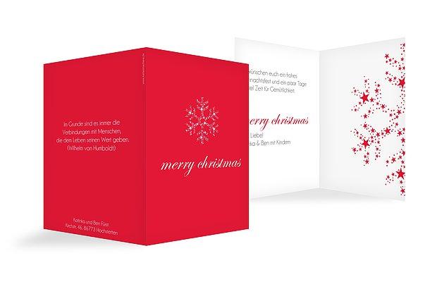"""Weihnachtskarte """"Kristallstern"""""""