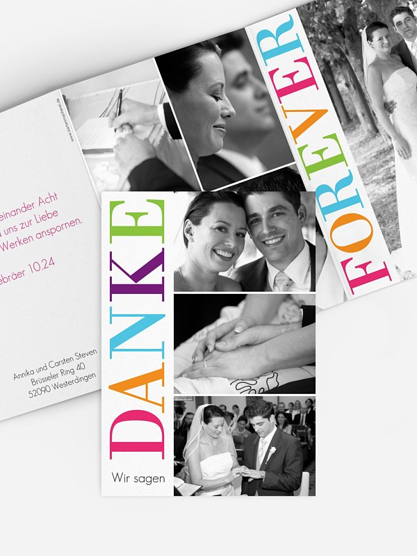 Dankeskarte Hochzeit LOVE