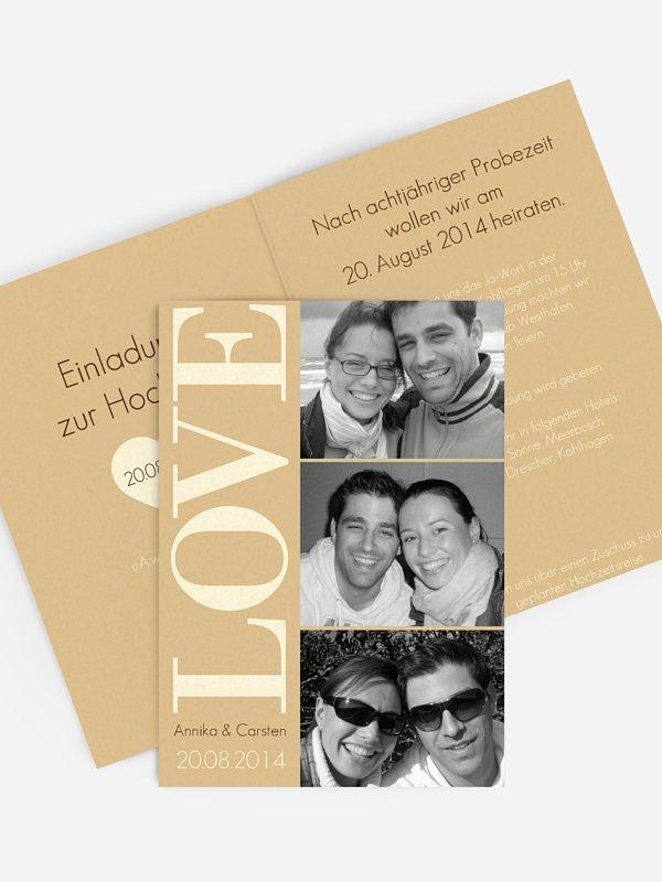 Hochzeitseinladung LOVE