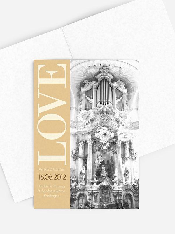 Kirchenheft Hochzeit LOVE
