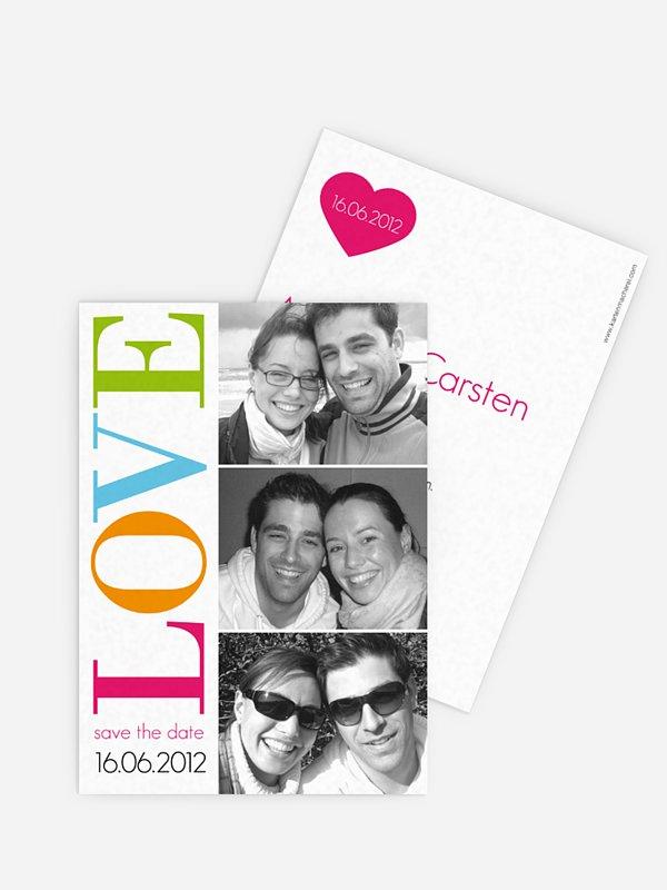 Save-the-Date Karte LOVE