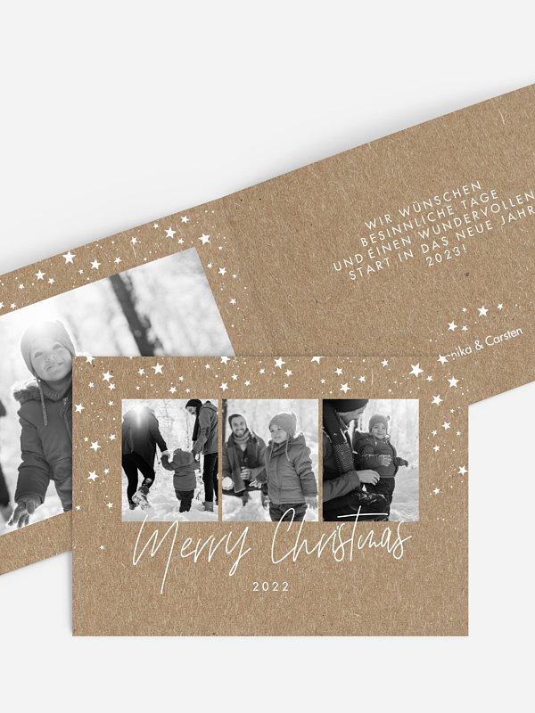Weihnachtskarte Wunderbarer Winter Kraftpapier