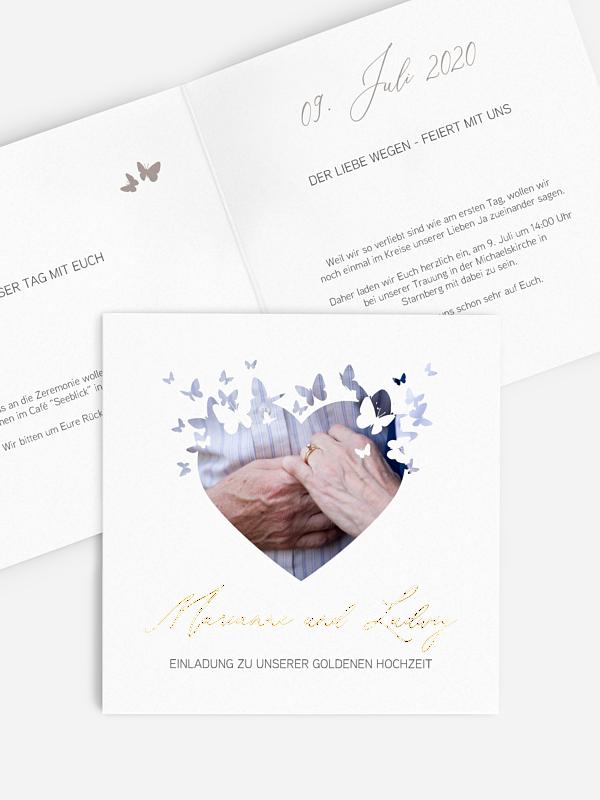 Einladung zur Goldenen Hochzeit Promise