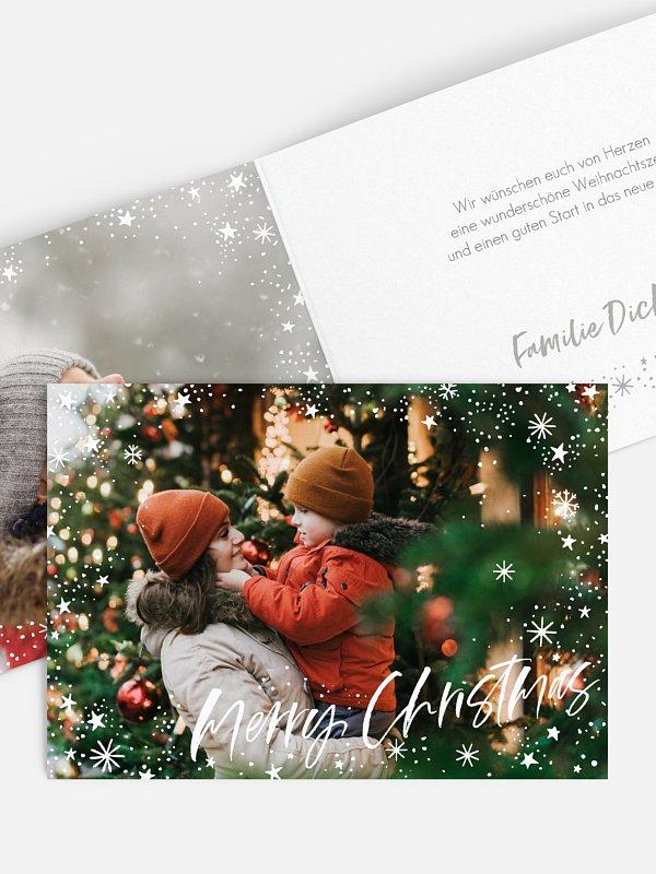 Weihnachtskarte Himmelhoch