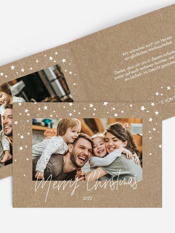 Weihnachtskarte Dreamy Winter Kraftpapier