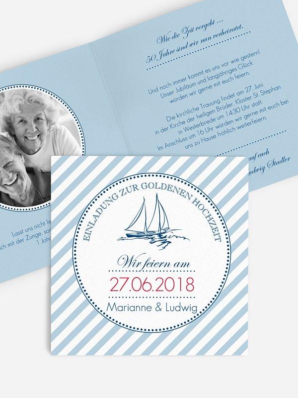 Einladung zur Goldenen Hochzeit Maritim