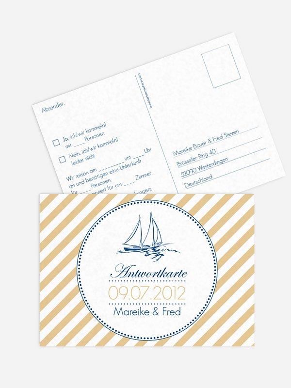 Antwortkarte Hochzeit Maritim