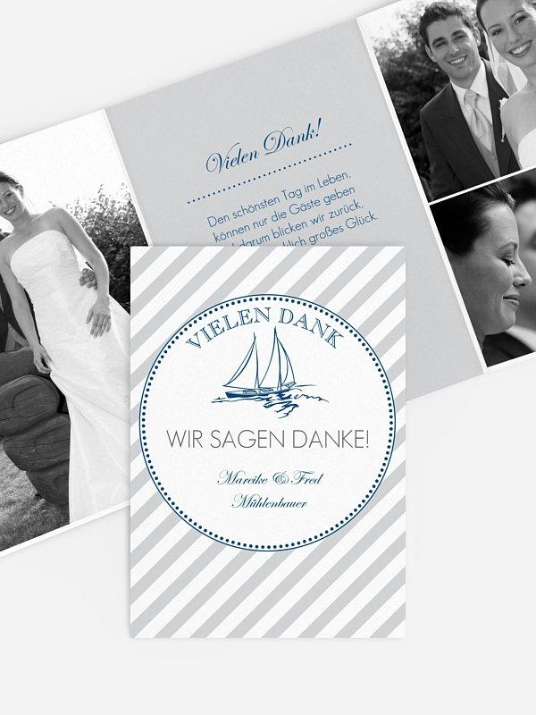 Dankeskarte Hochzeit Maritim