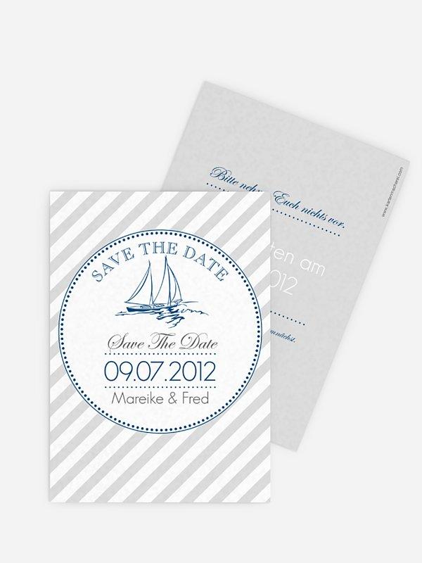 Save-the-Date Karte Maritim