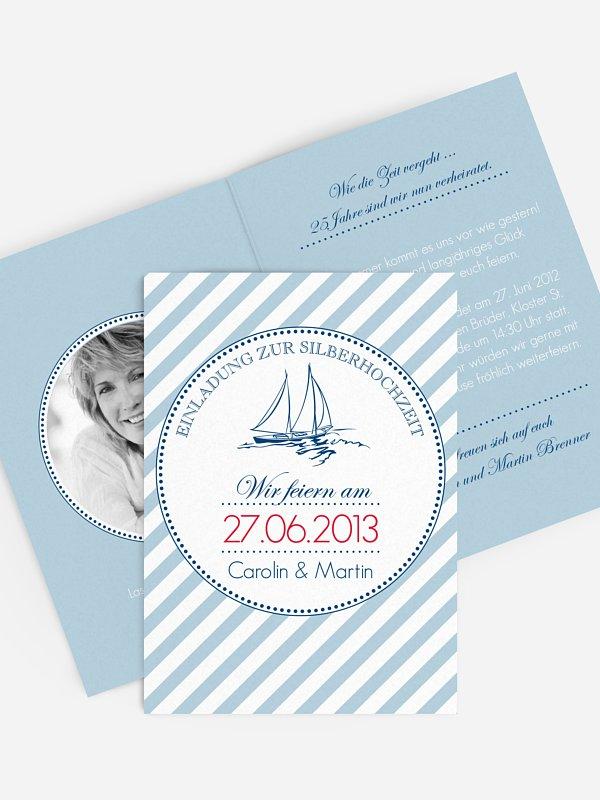 Einladung zur Silberhochzeit Maritim