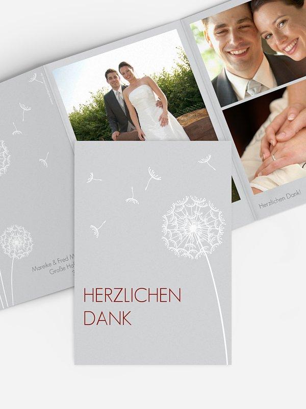 Dankeskarte Hochzeit Pusteblume