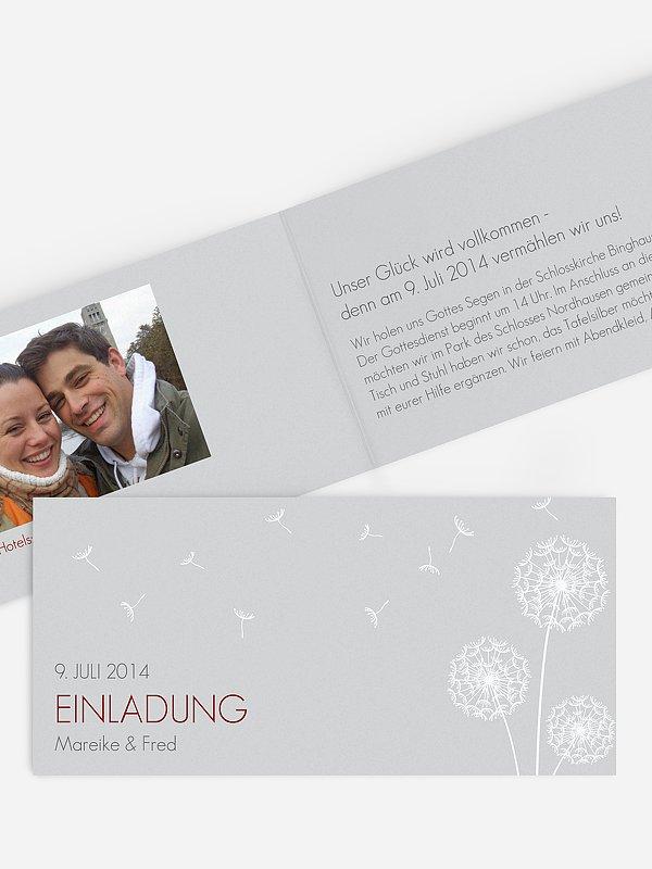 Hochzeitseinladung Pusteblume