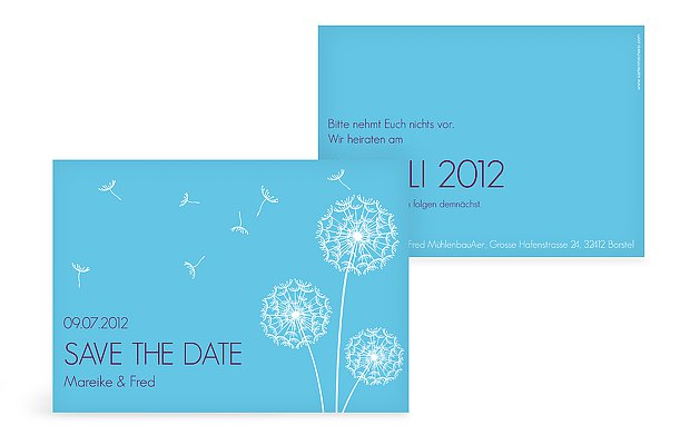 "Save-the-Date Karte ""Pusteblume"""
