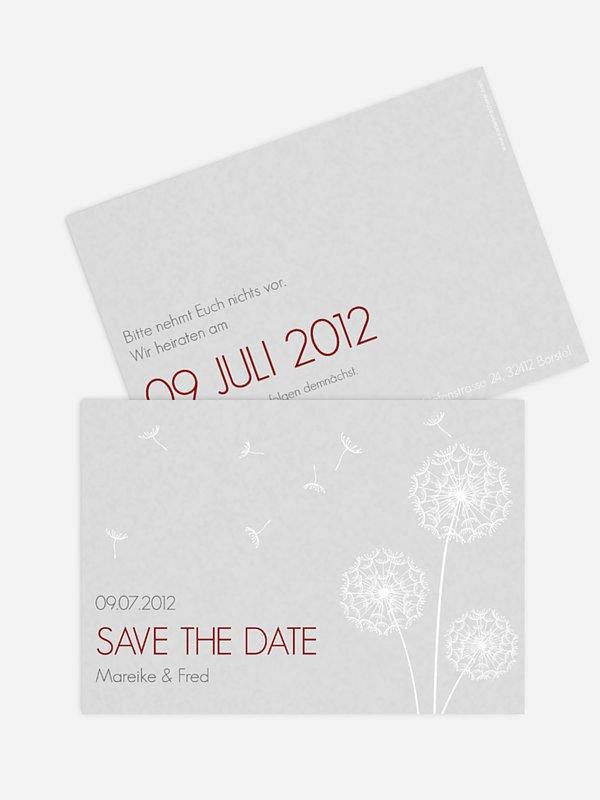 Save-the-Date Karte Pusteblume