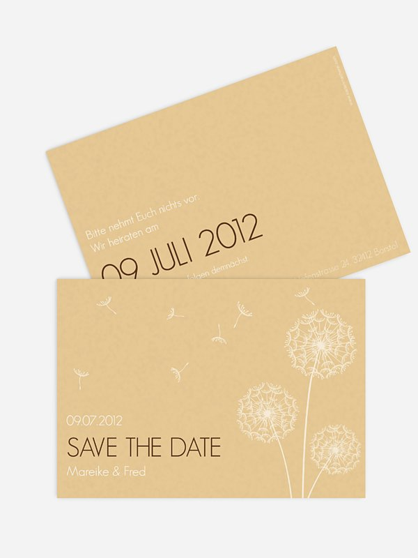 Save-the-Date Karte Pusteblume
