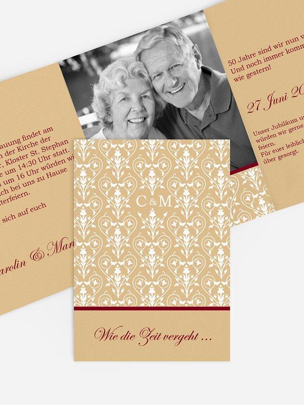 Einladung Goldene Hochzeit Vintage