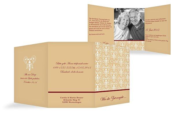 """einladung goldene hochzeit """"vintage"""", Einladungsentwurf"""