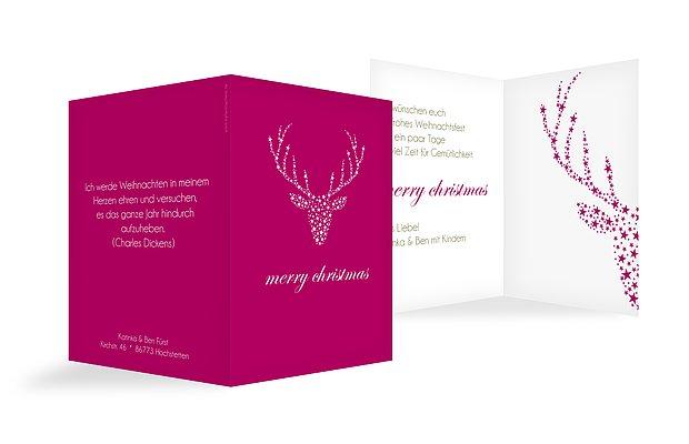 """Weihnachtskarte """"Kristallhirsch"""""""
