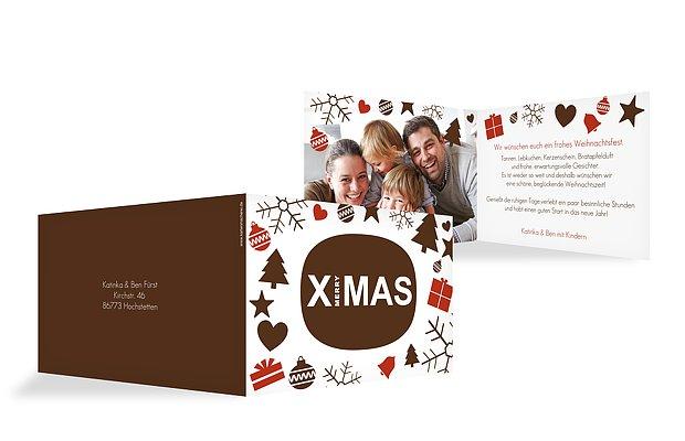 """Weihnachtskarte """"X-Elements"""""""