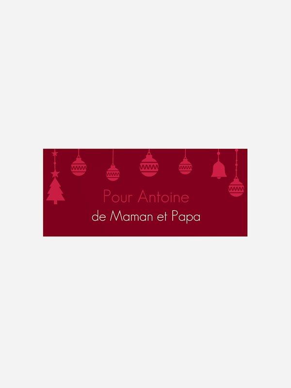 Étiquette cadeau Noël Noël enchanté