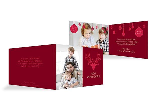 """Weihnachtskarte """"Kugelhirsch"""""""
