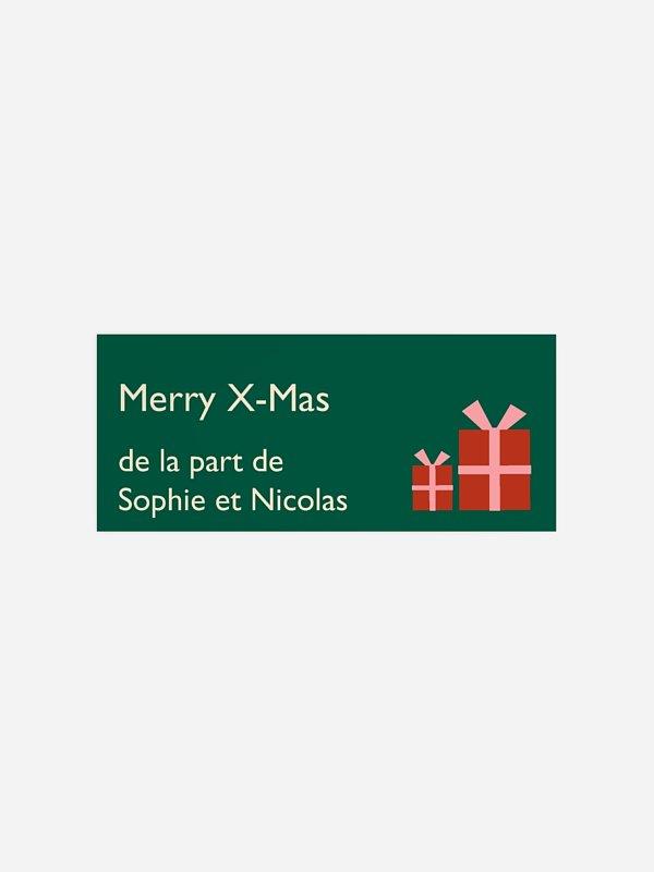 Étiquette cadeau Noël Joyeux Noël