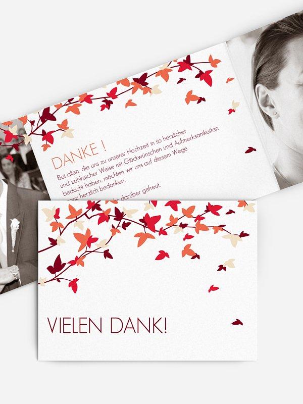 Dankeskarte Hochzeit Blättertanz