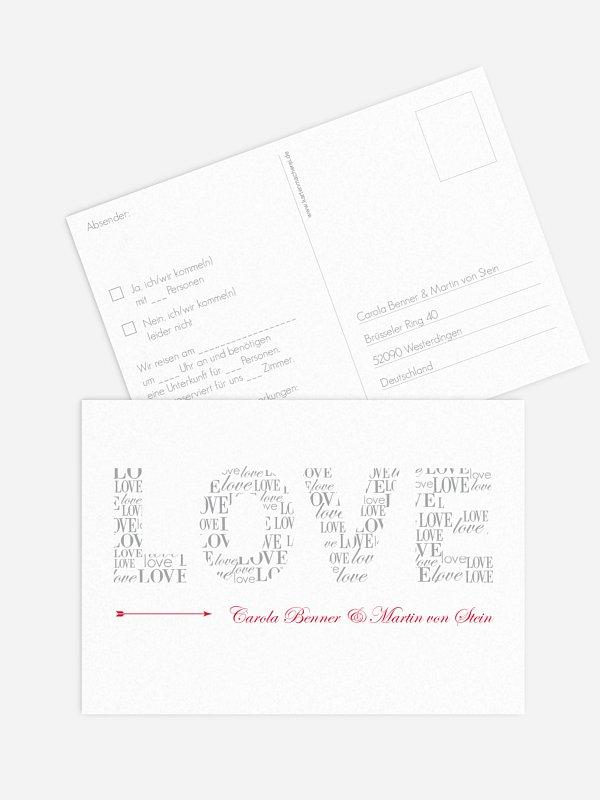 Antwortkarte Hochzeit Liebevoll