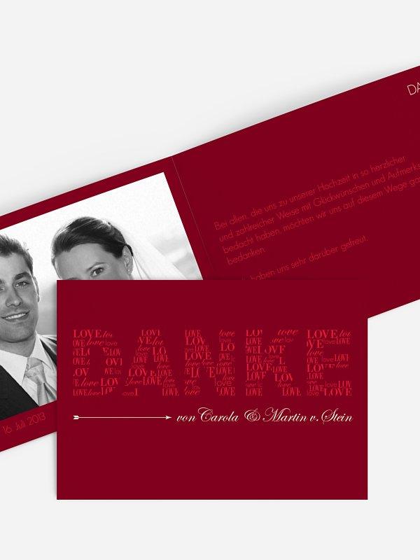 Dankeskarte Hochzeit Liebevoll