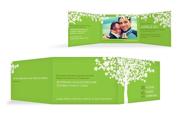 """Einladungskarte Hochzeit """"Kirschblüten"""""""