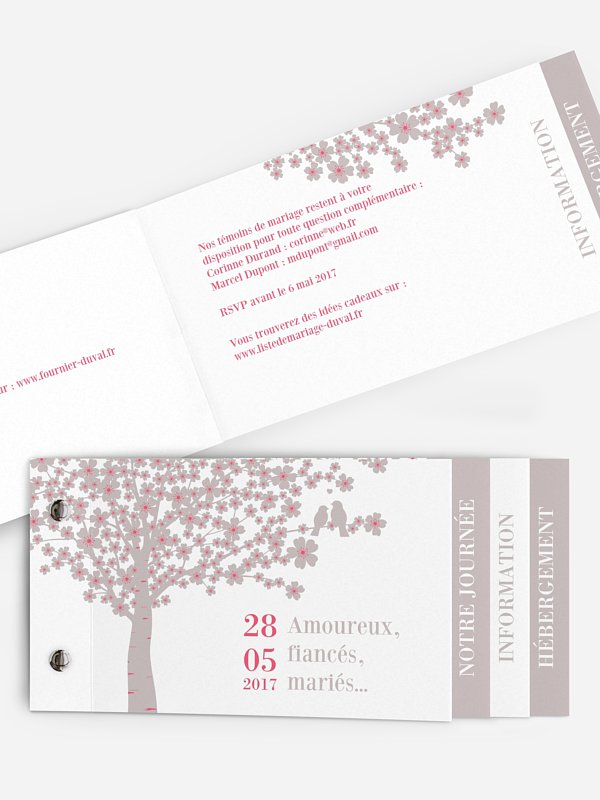 Faire-part mariage Fleurs de cerisier