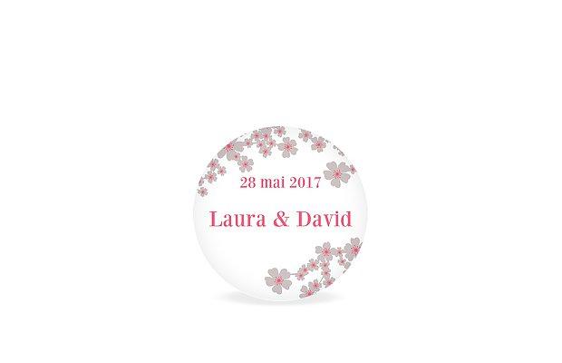 Étiquette cadeau mariage Fleurs de cerisier