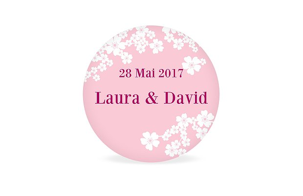 tiquette cadeau mariage fleurs de cerisier - Etiquette Autocollante Mariage