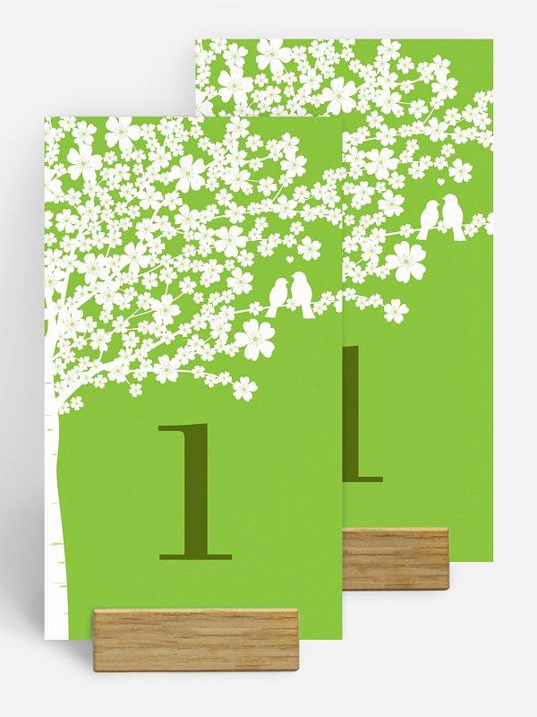 Tischnummer Kirschblüten