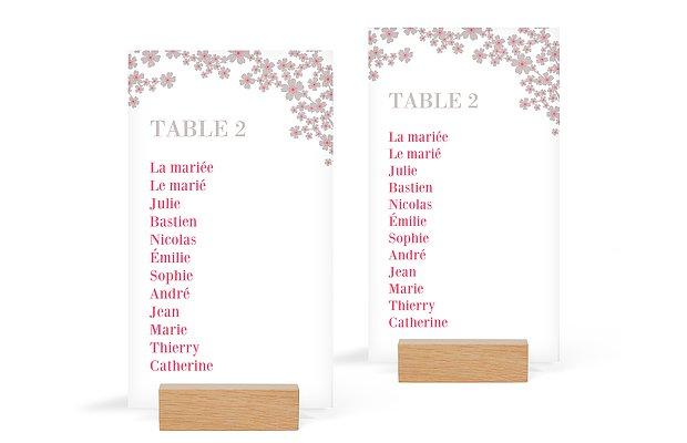 Nom de table mariage Fleurs de cerisier
