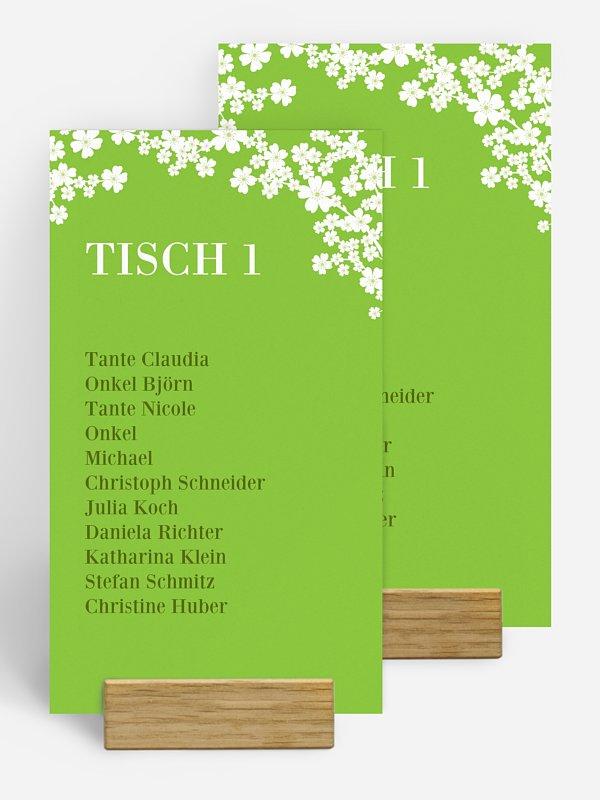 Gruppentischkarte Kirschblüten