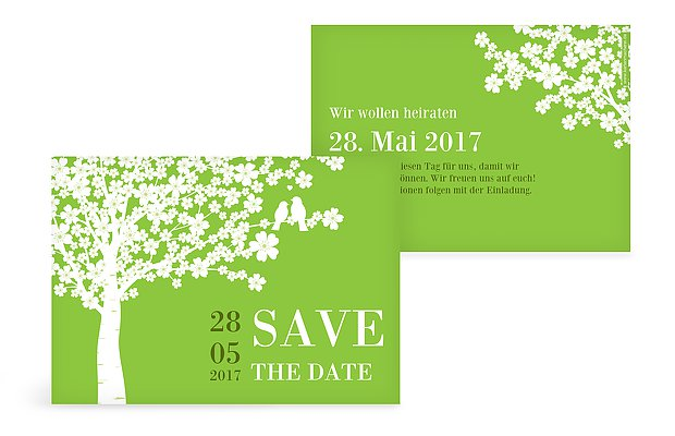 "Save-the-Date Karte ""Kirschblüten"""