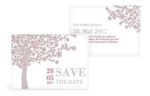 """Save-the-Date Karte """"Kirschblüten"""""""
