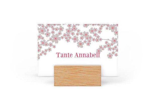 Tischkarte Hochzeit Kirschblüten