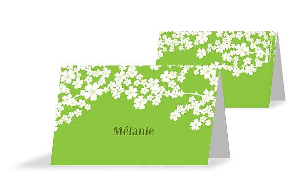 Marque-place mariage Fleurs de cerisier