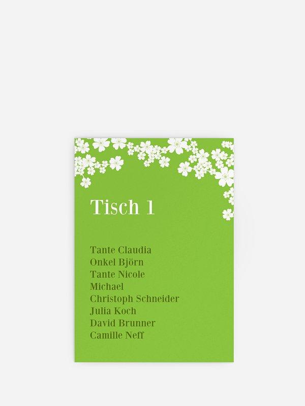 Sitzplan Kreativ Kirschblüten