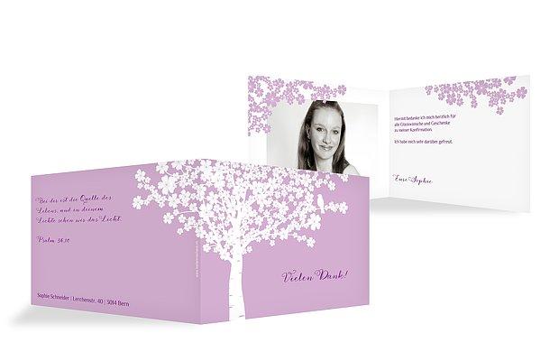 Danksagung Konfirmation Kirschblüten