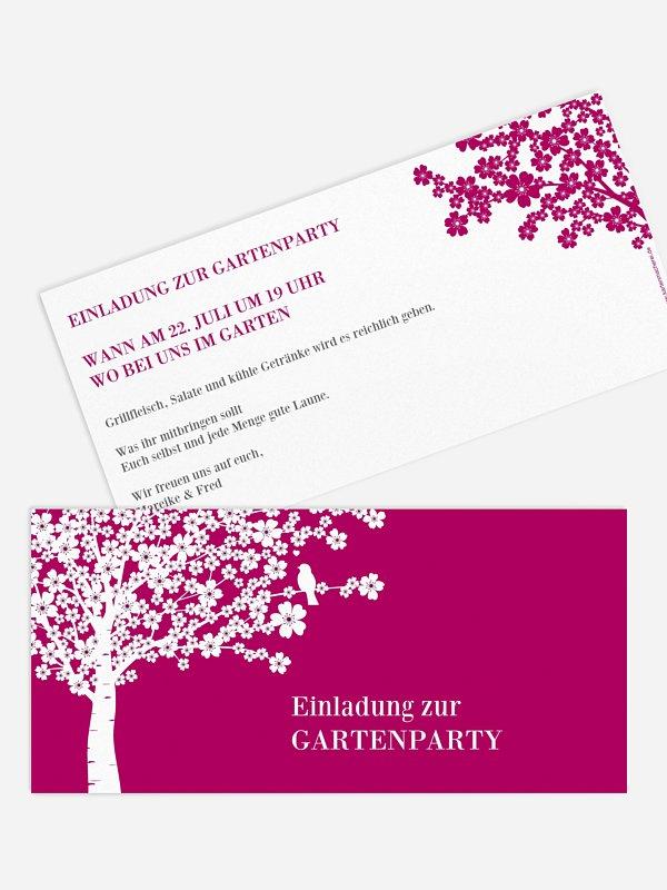 Partyeinladung Kirschblüten
