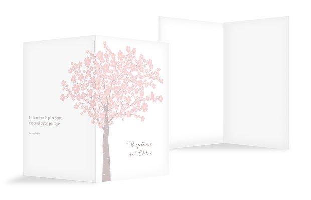 Livret de messe baptême Fleurs de cerisier