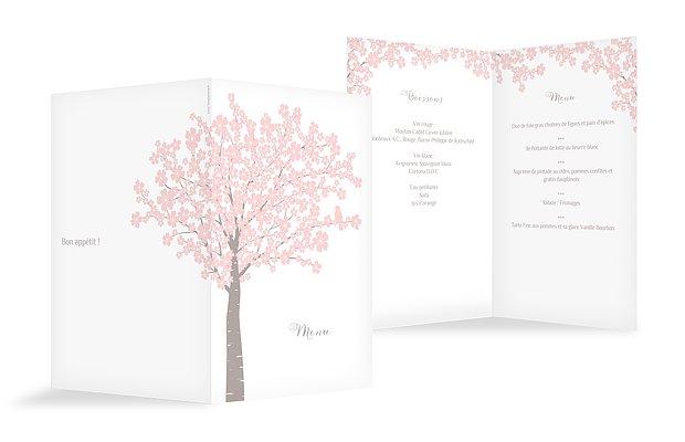 Menu baptême Fleurs de cerisier