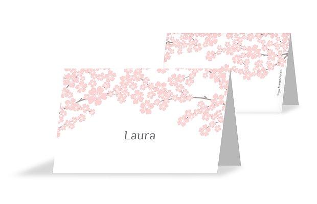 Marque-place baptême Fleurs de cerisier