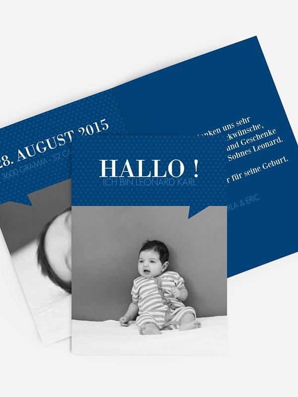 Geburtskarte Sprechblase