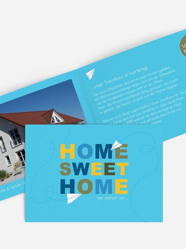 Umzugskarte Home sweet Home