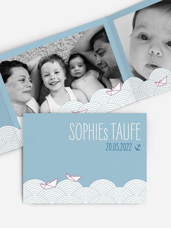 Dankeskarte Taufe Weltreise